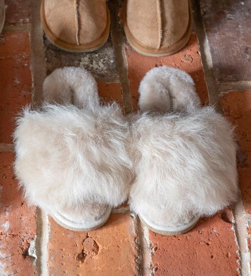 Fluffy Sheepskin Slippers