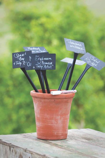 Black Plant Labels and Pen