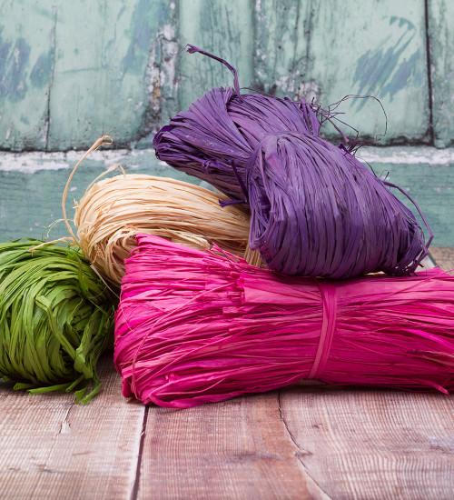 Colourful Raffia