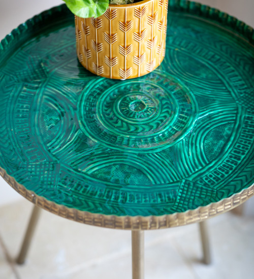 Brass Embossed Table