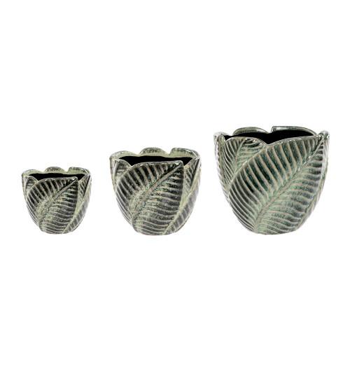 Ceramic Leaf Planters