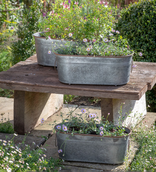 Zinc Oval Curved Troughs