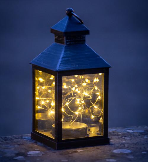 Mini Lantern with Wire Lights