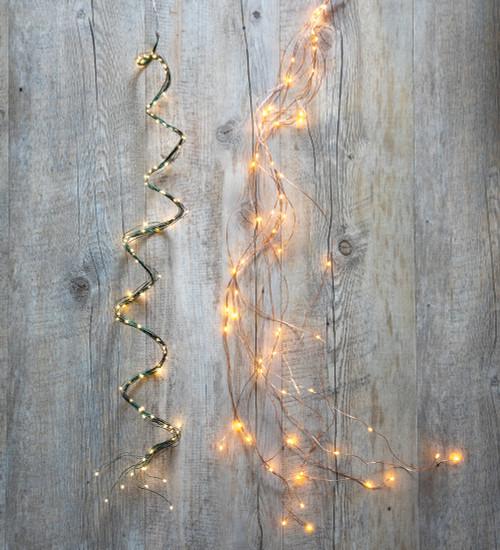 马尾辫LED电池线灯
