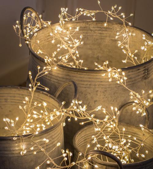 Silver Superbright Cluster Lights