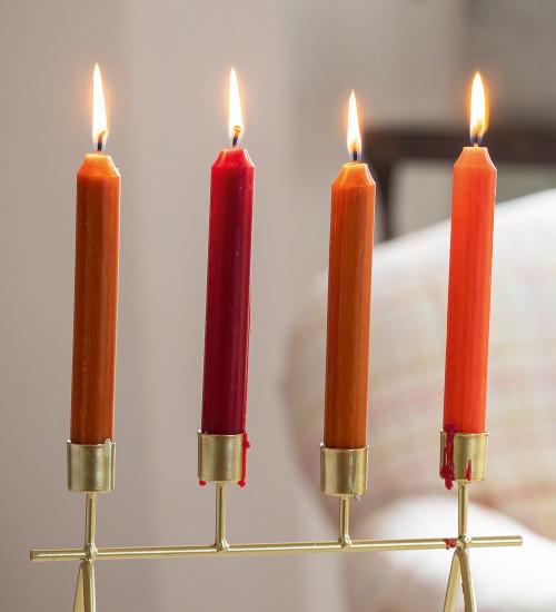 Cinnamon Spice Dinner Candle Set