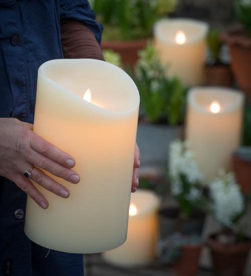 Huge Battery Pillar Candles
