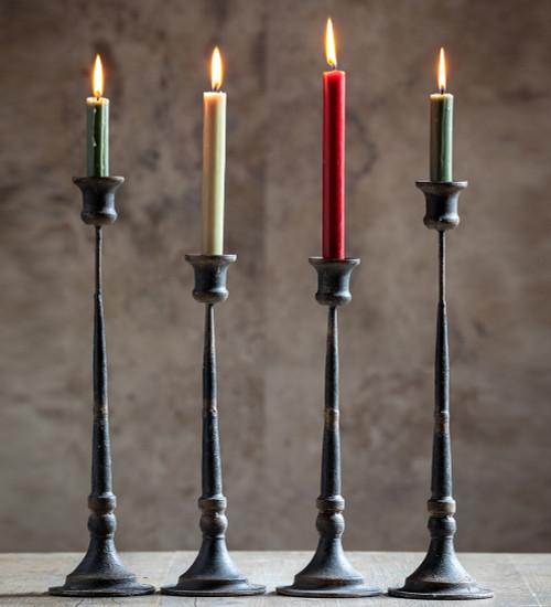 Rustic Black Candlestick
