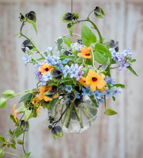 Hanging Blown Glass Vase/Tealight Holder
