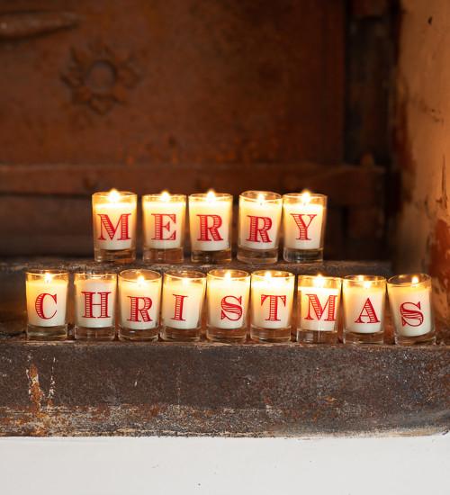 Merry Christmas Candle Set