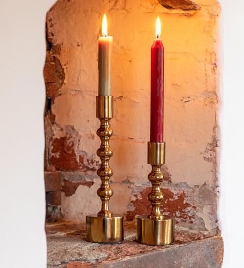 Brass Effect Candlesticks