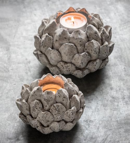 Stone Effect Acorn Tealight Holder