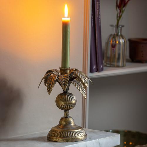 Palm Leaf Candlestick