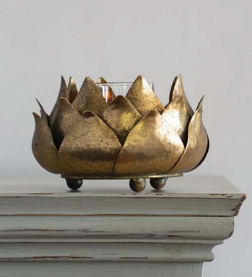 Golden Artichoke Candleholder