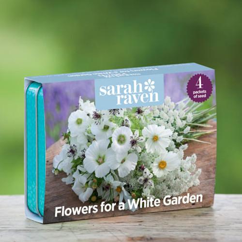 为白色花园收集的花