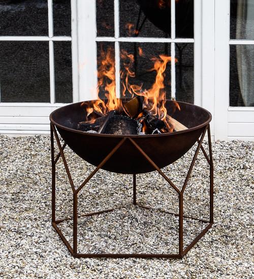 Buckingham Rust Iron Firebowl
