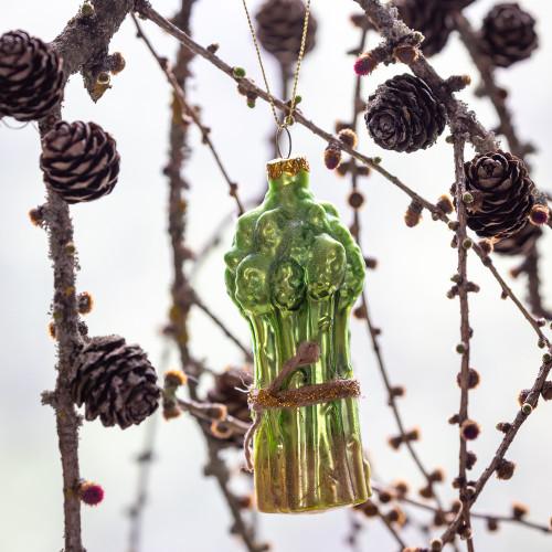 Glass Asparagus Bunch Decoration