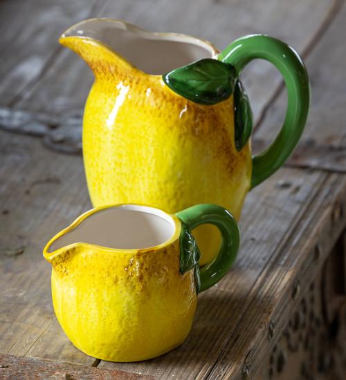 Lemon Ceramic Jug