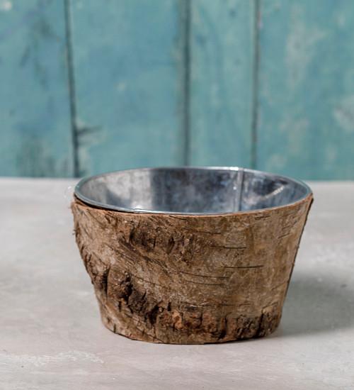 Zinc and Bark Bowl