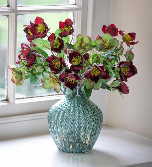 Ribbed Geo Glass Vase