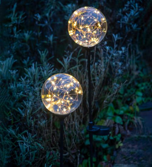 Solar Ball Stake Lights