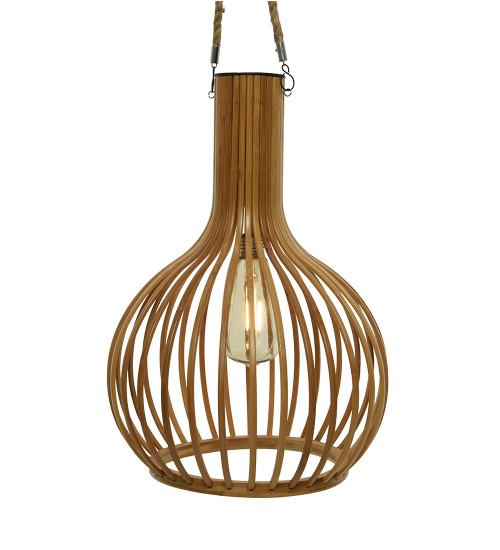 Solar Hanging Bamboo Light
