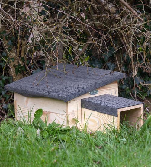 Wooden Hedgehog House