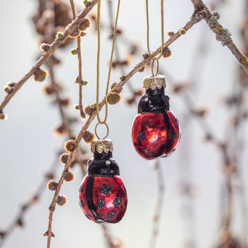Glass Ladybird Mini Baubles
