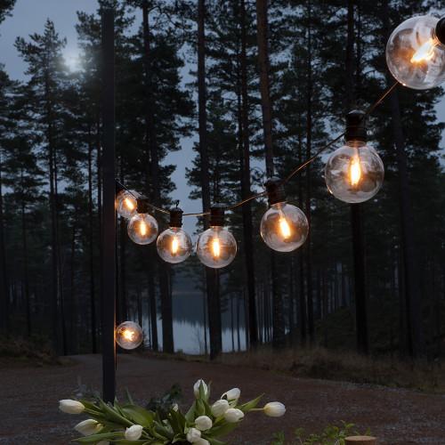 Festoon Amber Lights Round Globes