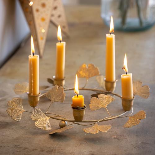 Ginkgo Leaf Wreath Candleholder