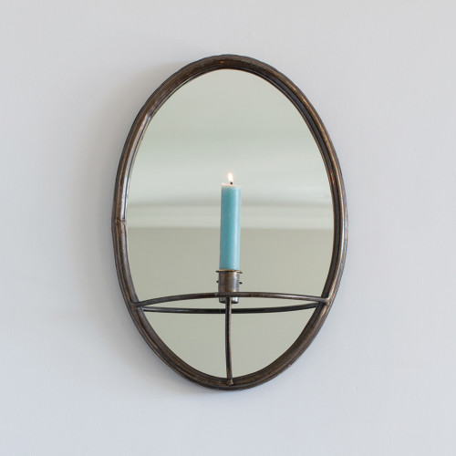 Oval Mirror Candleholder