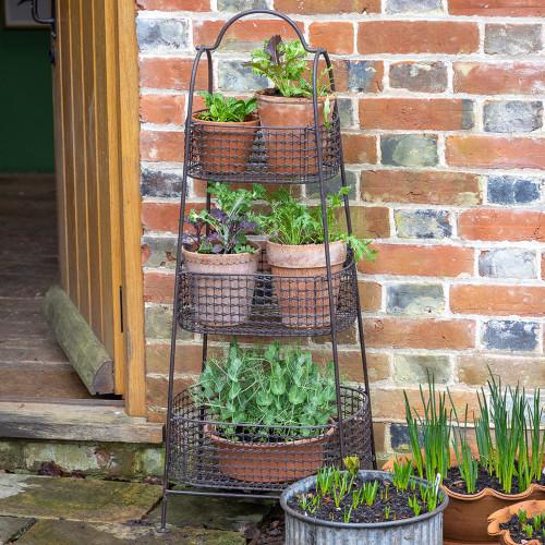 Three Tier Basket Storage Rack