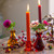 Red Glass Candlestick