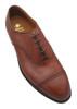 Alden Perforated Cap Toe Bal Oxford Brown Calf