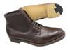 Alden Men's Straight Tip Boot Dark Brown Calfskin # 3912