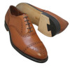 Alden  - Men's Medallion Tip Bal  Burnished Tan Calfskin #911