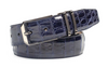 Mezlan Blue Genuine Crocodile Belt