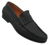 Santoni Judge Black grain penny strap slip on