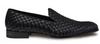 Mezlan Caba Black Woven Calfskin