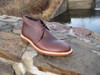 Alden Custom style Unlined Chukka Boot in Brown Aniline Pull-Up leather