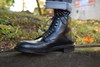 Alden Navy Hi Mocc Toe Boot in Black Shell Cordovan with Commando Sole  # D0902HC