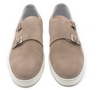 G. Brown Jaxon Double Monk Suede Sneaker Taupe # 552