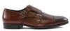 G. Brown Luke Double Monk Strap Cap toe Burgundy calfskin #650