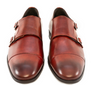 G. Brown Luke Double Monk Strap Cap toe Rust calfskin # 504