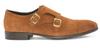G. Brown Luke Double Monk Strap Cap toe Rust suede # 551