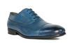 G. Brown Bailey Rubber sole Cap Toe oxford Blue Calfskin #422