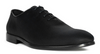 G. BROWN Bishop PLAIN TOE BAL OXFORD Grosgrain Formal Shoe BLACK # 100