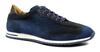 Zelli Costa Italian Burnished Sued Sneaker Navy