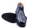 Zelli Marco Ostrich Quill Chukka Boot Black