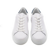 G. Brown Puff White Tumbled Leather Sneaker w/Navy tab #704